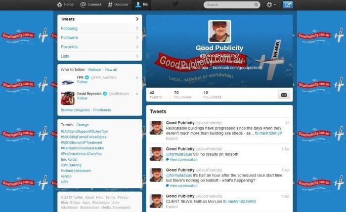 Good Publicity Twitter account 30-05-13 700x430